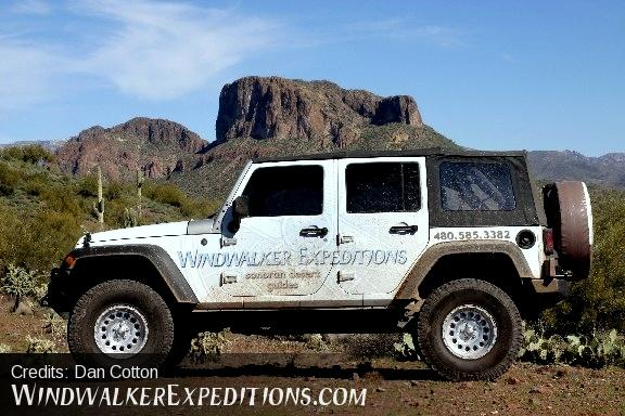 Windwalker's Jeep Wrangler Unlimited with beefed up suspension and tires.