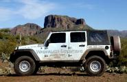 Windwalker&#039;s Jeep Wrangler Unlimited with beefed up suspension and tires.