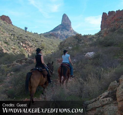horseback ride arizona, Superstition Mountains, Weaver's Needle, Pack Trip.