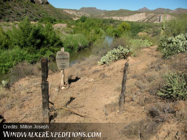 Wilderness boundary gate