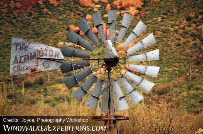 Wind Pump Superstition Mtns.