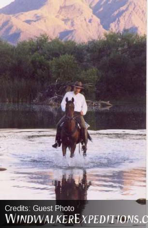 Milton Joseph in river
