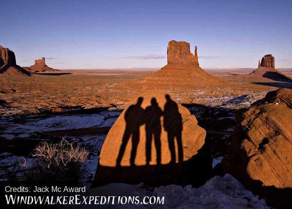 Three Amigos in Monument Valley, Arizona