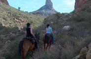 horseback ride arizona, Superstition Mountains, Weaver's Needle, Pack Trip.
