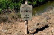 Mazatzal  Wilderness boundary
