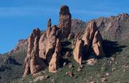 Giant Monolith Rock Formations in the Superstition Mountains.